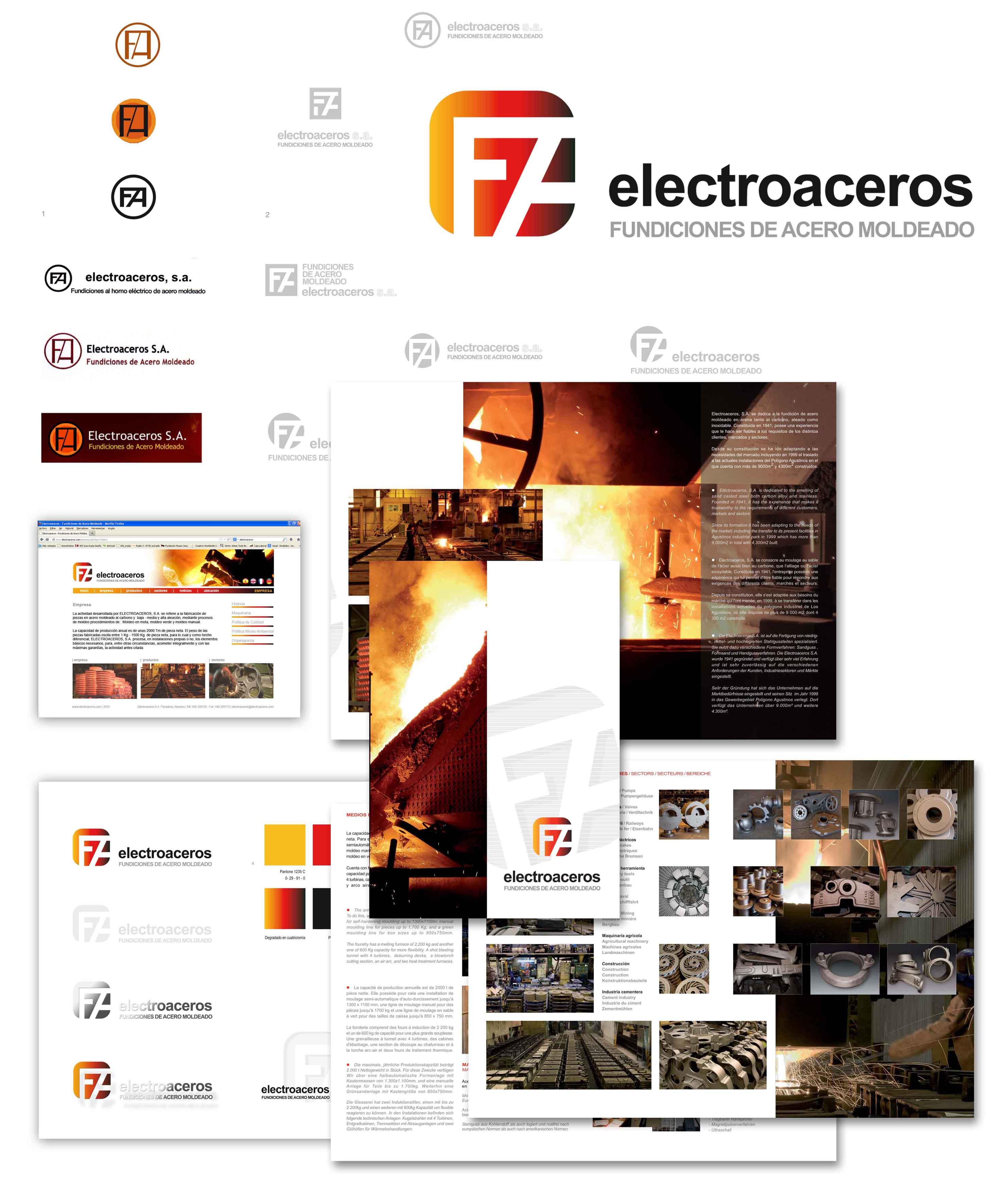 Electroaceros identidad corporativaiosu rada dise o de for Diseno de producto